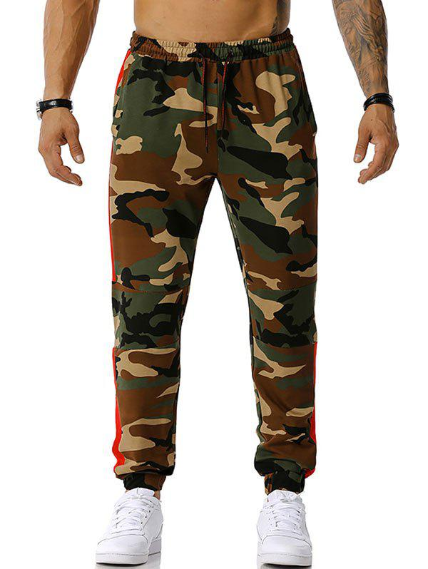 Best Drawstring Camouflage Print Casual Pants