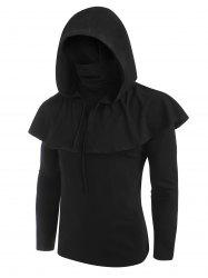 Gothic Hooded Cape and Mask Top Two Piece Sets -