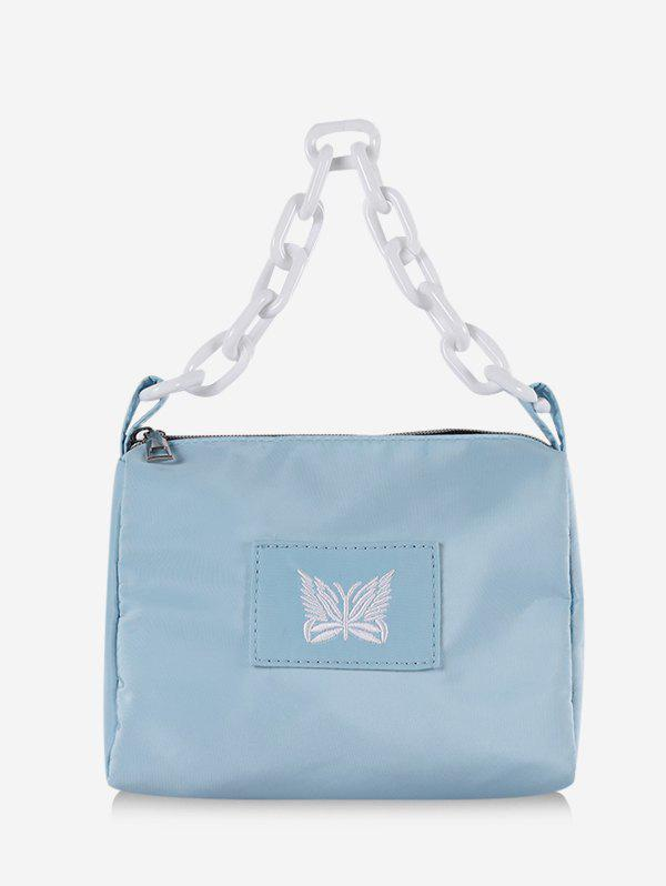 Fancy Butterfly Embroidery Chain Square Handbag