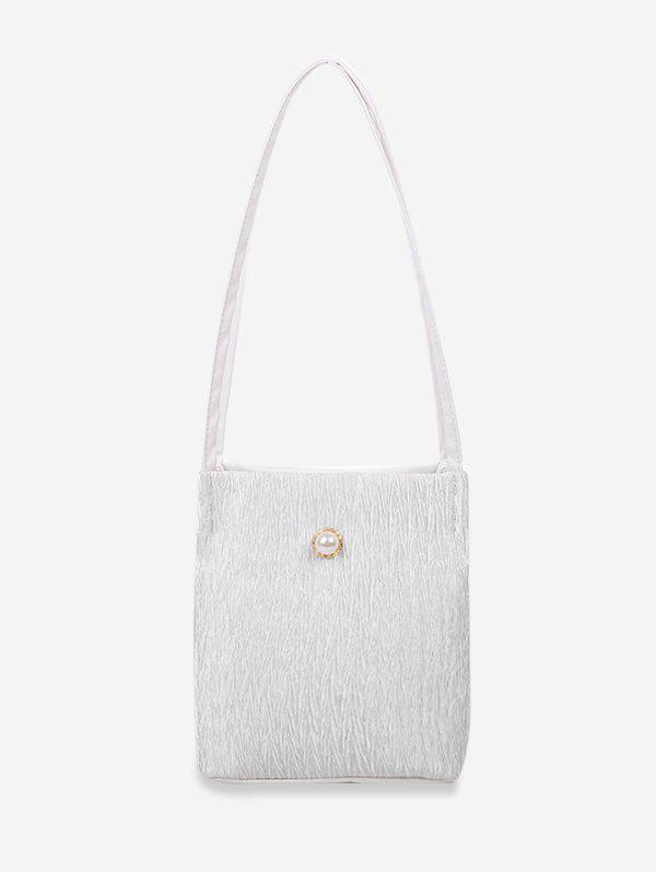 Sale Faux Pearl Textured Rectangle Shoulder Bag