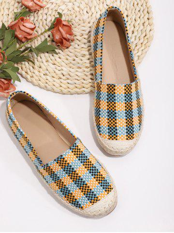 Casual Plaid Pattern Colorblock Flat Shoes - MULTI-A - EU 40