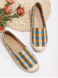 Casual Plaid Pattern Colorblock Flat Shoes -