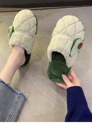 Fruit Pattern Closed Toe Plush Slippers -