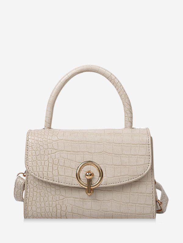 Outfit Textured Cover Hasp Rectangle Handbag