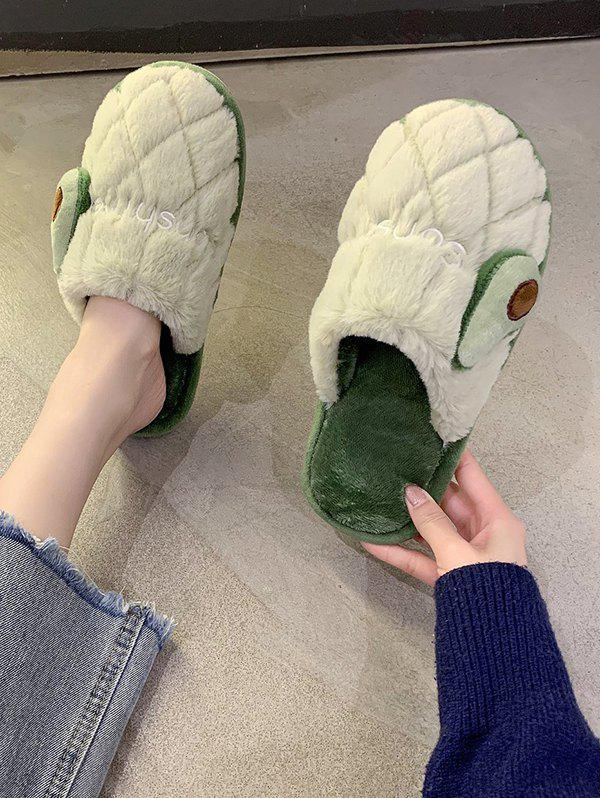 Outfits Fruit Pattern Closed Toe Plush Slippers