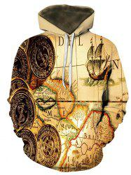 Maple Coin Pattern Front Pocket Lounge Hoodie -