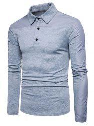 Quarter Button Long Sleeve T-shirt -
