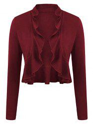 Plus Size Ruffled Trim Bolero Jacket -