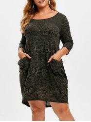 Plus Size Heather Pocket Baggy Dress -
