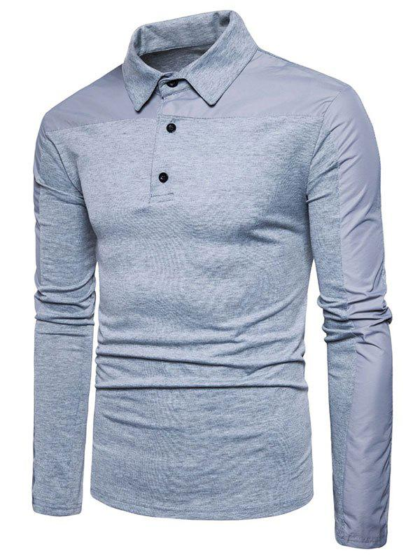 Discount Quarter Button Long Sleeve T-shirt