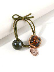 Square Pendant Knot Layers Hair Tie -