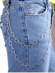 Heart Shape Hollow Layered Trousers Chain -