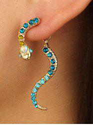 Rhinestone Snake Shape Jacket Earrings -