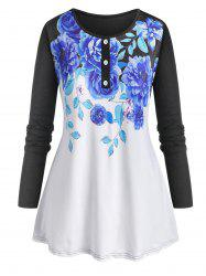 Plus Size Floral Print Tunic Tee -