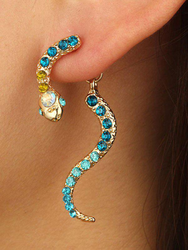 Shops Rhinestone Snake Shape Jacket Earrings