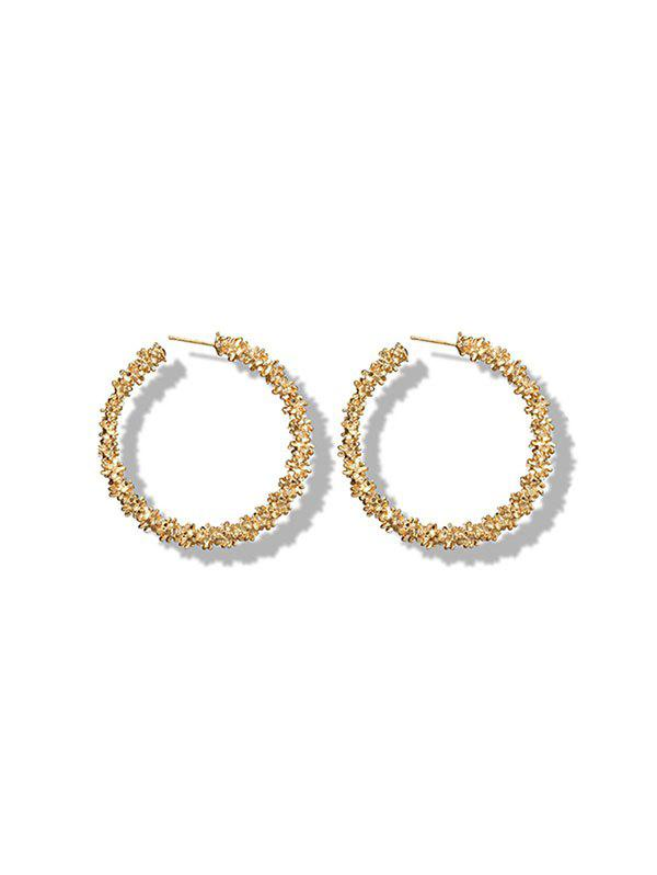 Outfits Textured Hoop Earrings