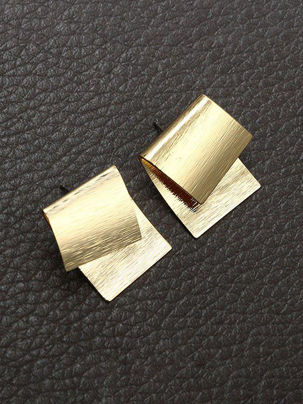 Affordable Overlapping Geometric Stud Earrings