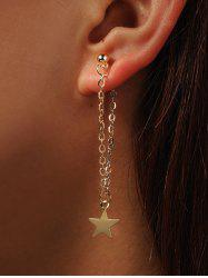 Star Long Chain Earrings -