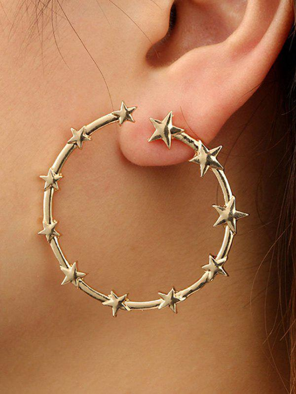 Chic Star Circle Shape Alloy Earrings