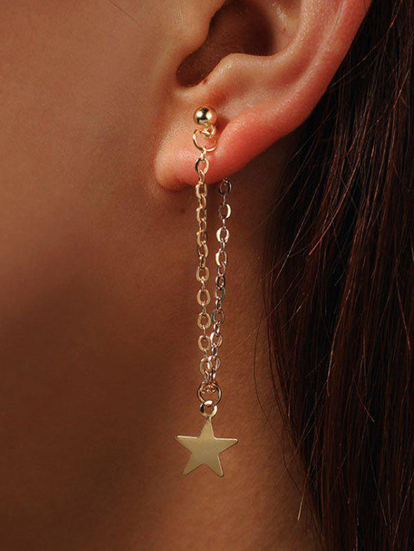 Unique Star Long Chain Earrings