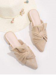 Front Knot Pointed Toe Half Flat Shoes -