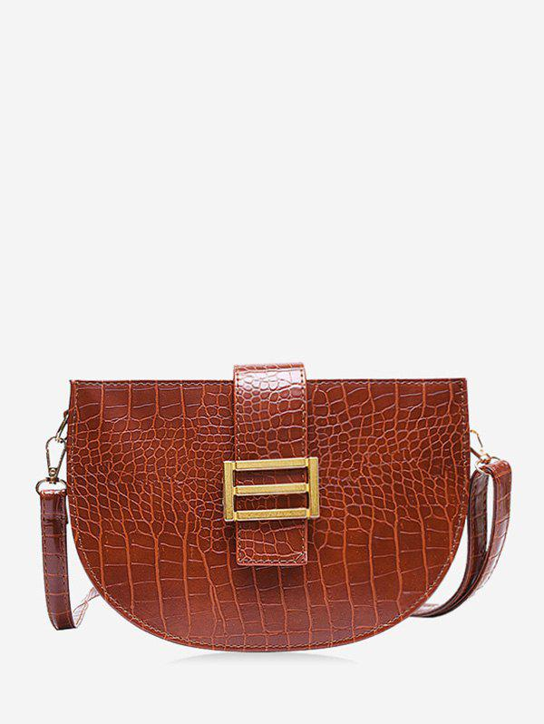Hot Textured Crossbody Semicircle Saddle Bag
