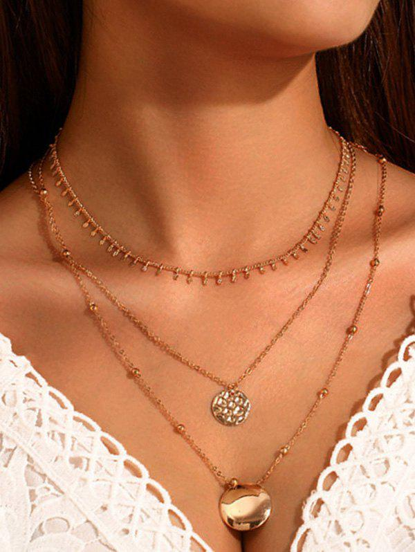 Latest Brief Round Pendant Layered Necklace