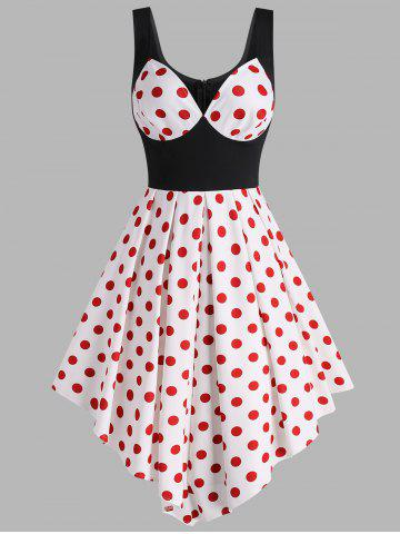 Vintage Polka Dot Handkerchief Flare Dress