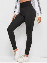 Mesh Insert High Rise Sporty Leggings -