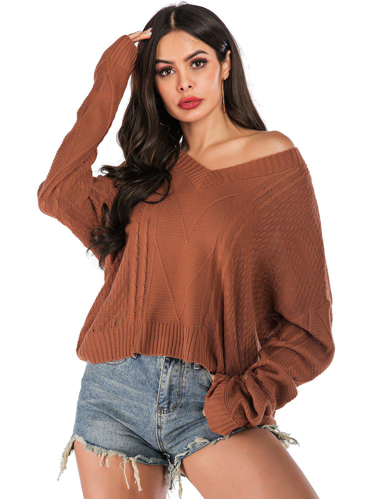 New Cable Knit Drop Shoulder Oversized Sweater