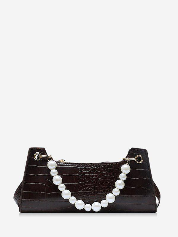 Outfits Faux Pearl Animal Embossed Underarm Shoulder Bag