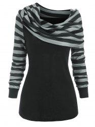 Foldover Striped Jumper Knitwear -