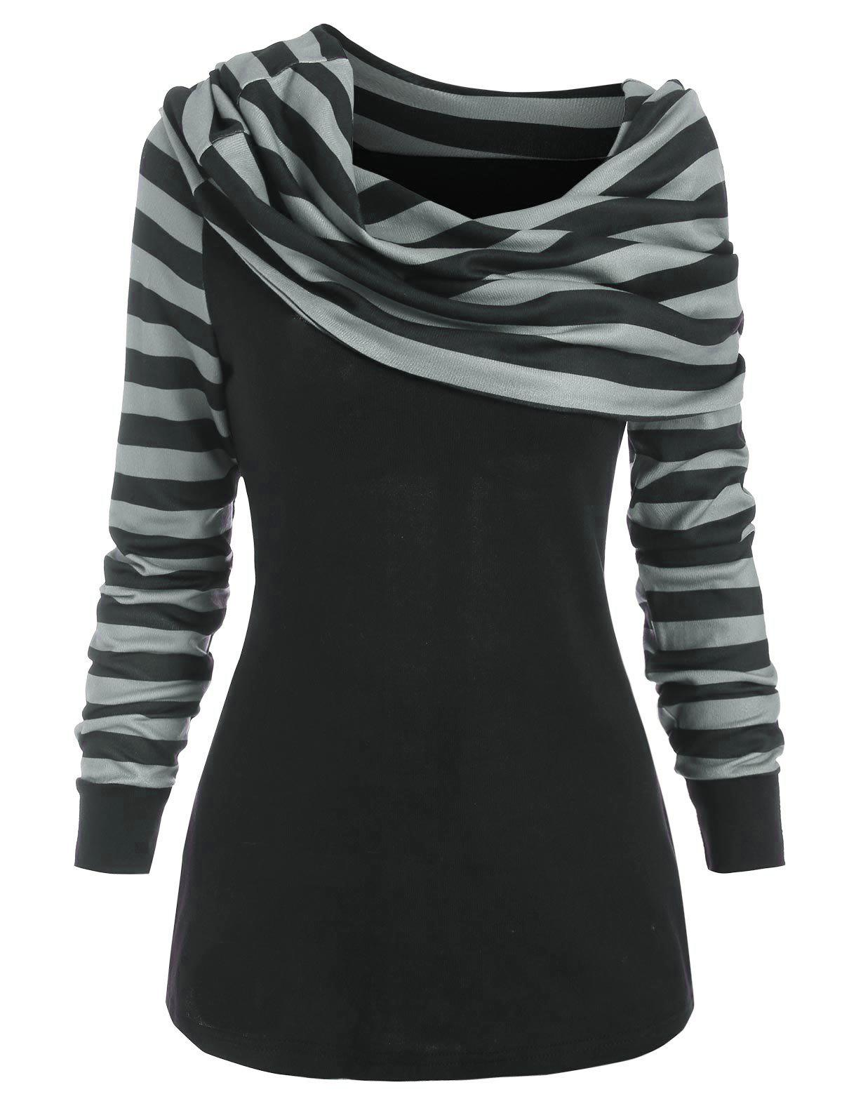 Discount Foldover Striped Jumper Knitwear