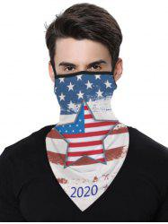Stars And Stripes Flag Pattern Outdoor Protection Mask Scarf -
