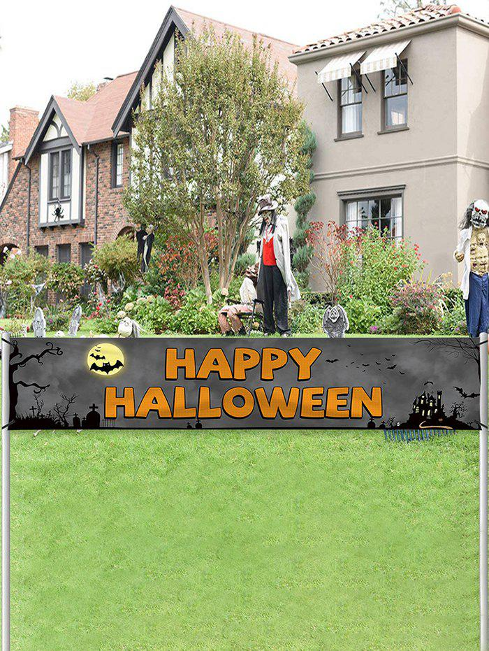 Fancy Halloween Party Flag Garden Decor Banner