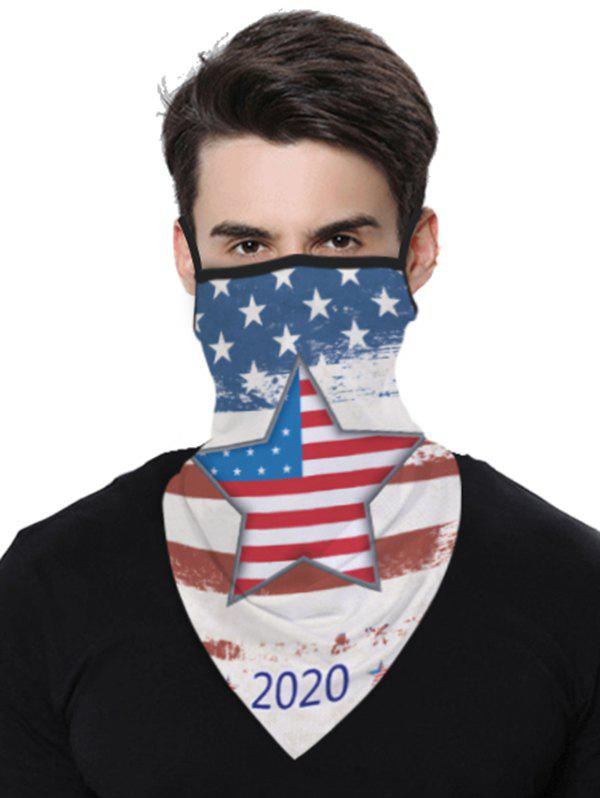 Shop Stars And Stripes Flag Pattern Outdoor Protection Mask Scarf
