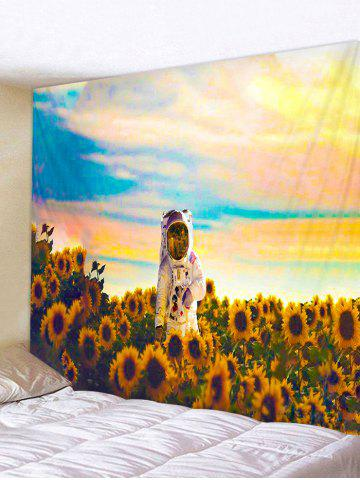 Sunflower Astronaut Printing Background Wall Tapestry