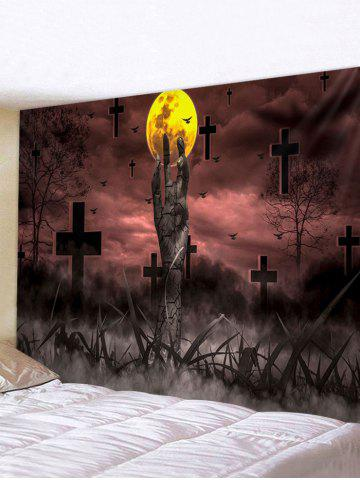 Halloween Terror Night Cemetery Pattern Wall Hanging Tapestry