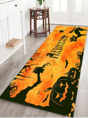 Halloween Pumpkin Cat Pattern Bath Mat - MULTI - W24 X L71 INCH