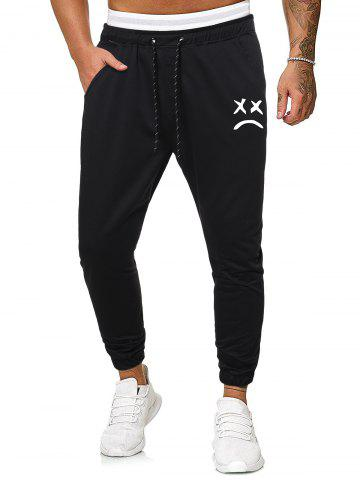 Funny Face Graphic Casual Drawstring Sweatpants