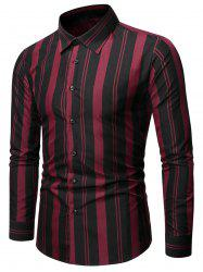 Balanced Striped Button Up Slim Shirt -