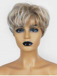 Short Pixie See-through Bang Slightly Wavy Fluffy Synthetic Wig -