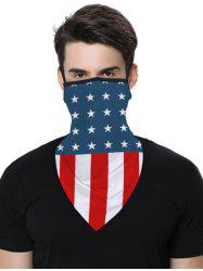Sports Outdoor Flag Print Multifunction Mask Scarf -