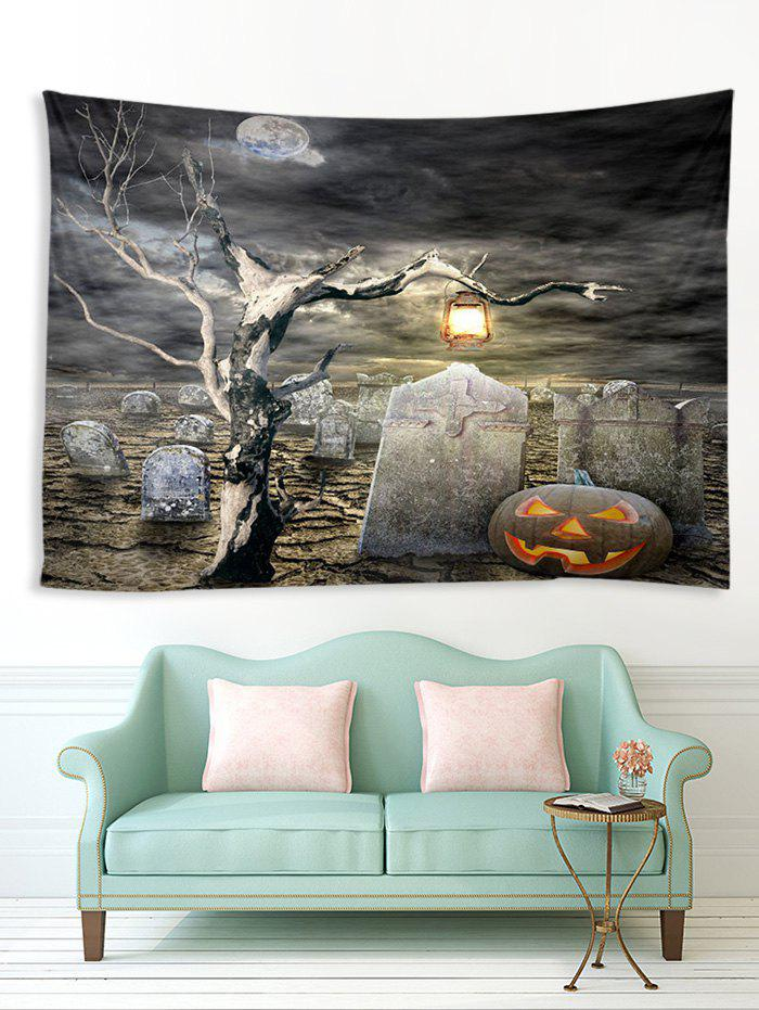Hot Halloween Grave Tree Printed Multifunction Tapestry