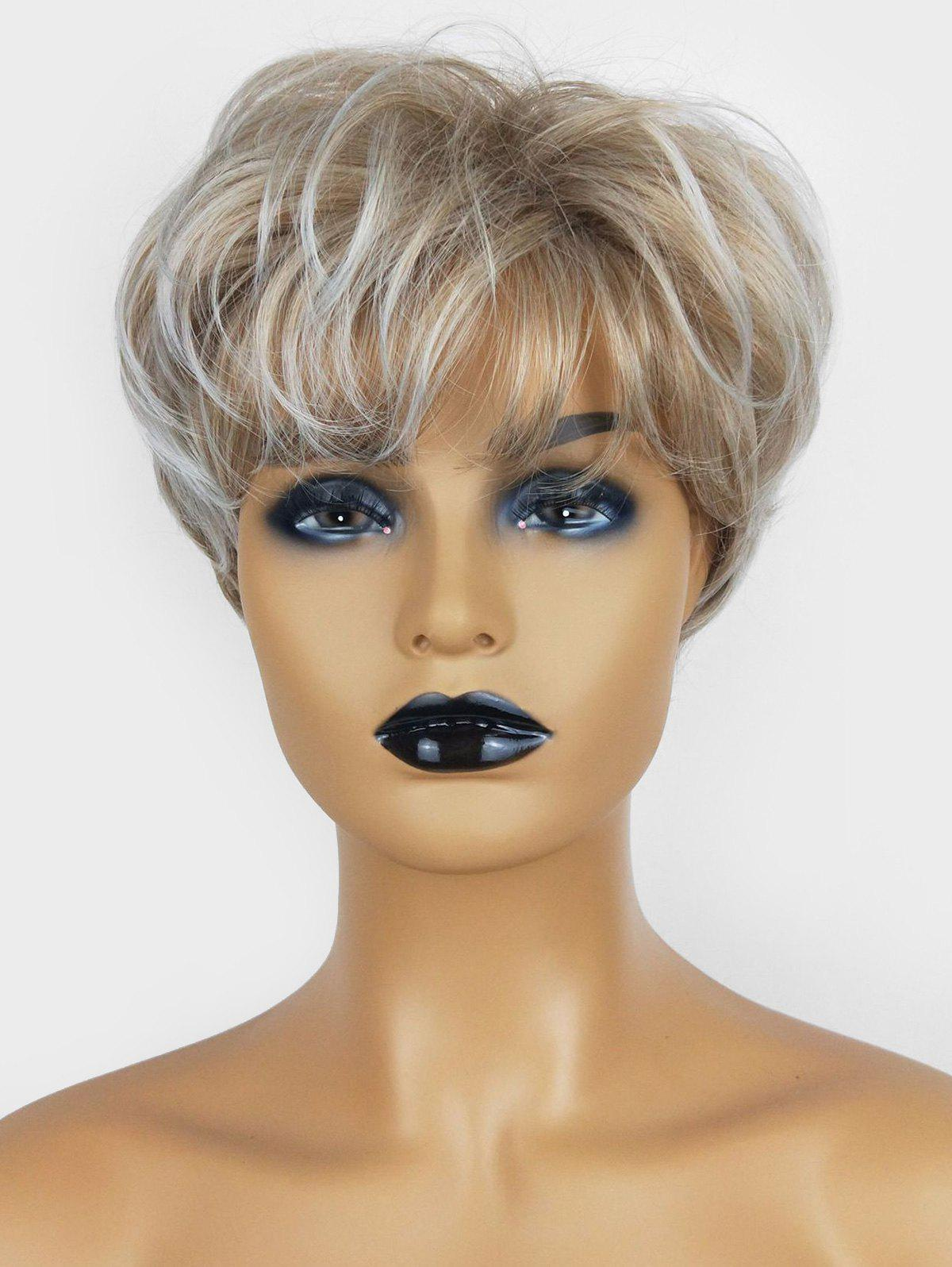 Fancy Short Pixie See-through Bang Slightly Wavy Fluffy Synthetic Wig