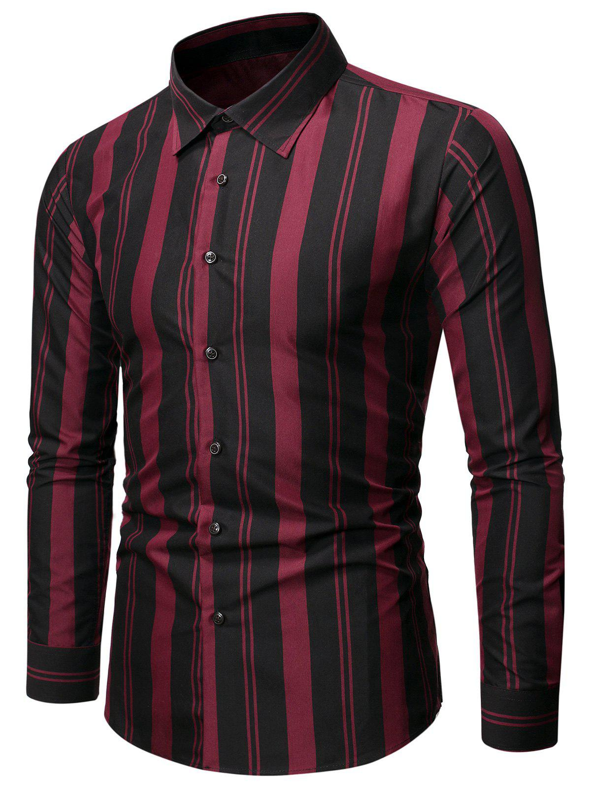 Buy Balanced Striped Button Up Slim Shirt