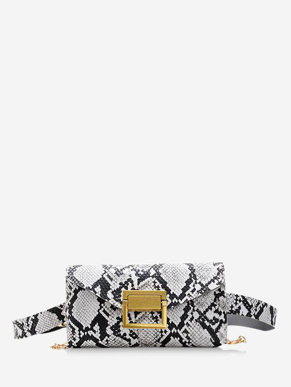 Sale Snakeskin Pattern Envelope Crossbody Waist Bag