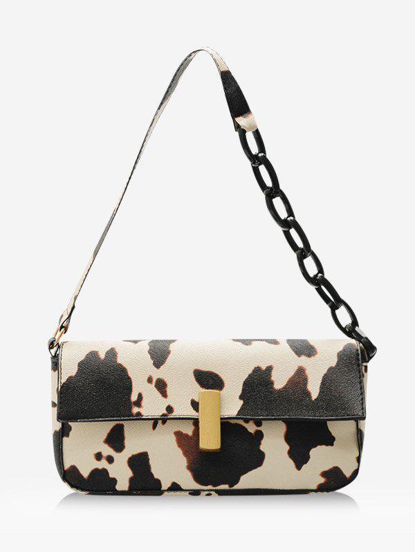 Online Cow Printed Rectangle Chain Small Shoulder Bag