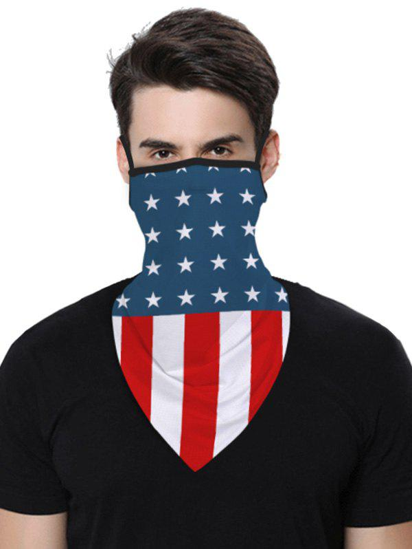 Trendy Sports Outdoor Flag Print Multifunction Mask Scarf