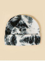 Tie Dye Ribbed Turn Up Edge Knitted Hat -
